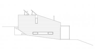 Rodinný dům v Myšlíně - Pohled západní - foto: Aulík Fišer architekti