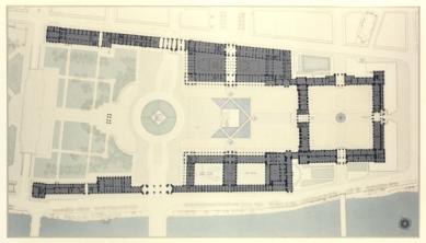 Le Grand Louvre - Půdorys přízemí - foto: Pei Cobb Freed & Partners Architects LLP