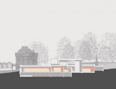 Muzeum moderní literatury - Podélný řez - foto: © David Chipperfield Architects