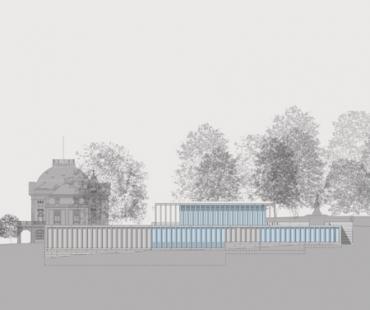 Muzeum moderní literatury - Jižní pohled - foto: © David Chipperfield Architects