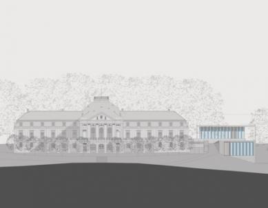 Muzeum moderní literatury - Západní pohled - foto: © David Chipperfield Architects