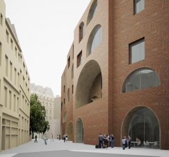 Nové studentské centrum St. Philips - Vizualizace - foto: © David Chipperfield Architect