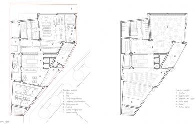 Nové studentské centrum St. Philips - Půdorysy - foto: © David Chipperfield Architect
