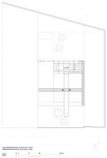 Dům Hemeroscopium - Půdorys horního patra - foto: © Ensamble Studio