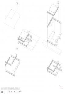 Dům Hemeroscopium - Konstrukční diagram domu - foto: © Ensamble Studio