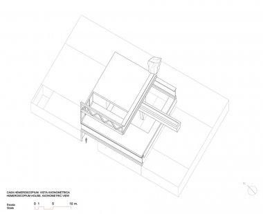 Dům Hemeroscopium - Axonometrie - foto: © Ensamble Studio