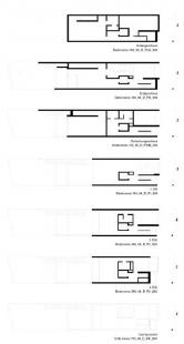 Řadový dům O-10 - Půdorysy - foto: David Chipperfield Architects