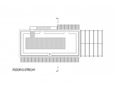 RD Černošice - Výkres střechy - foto: KA architekti