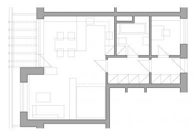 Interiér bytu, Barrandov - foto: Chmelař architekti