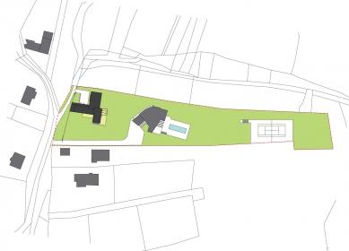 Rodinný dům Svinošice 01 - Situace - foto: knesl + kynčl architekti