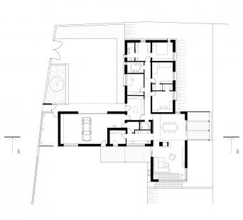 Rodinný dům Svinošice 01 - 1NP - foto: knesl + kynčl architekti