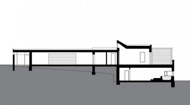 Rodinný dům Svinošice 01 - Řez - foto: knesl + kynčl architekti