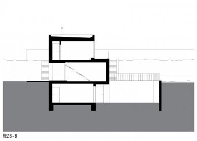 Rodinný dům Kuřim 01 - Řez B-B - foto: knesl + kynčl architekti