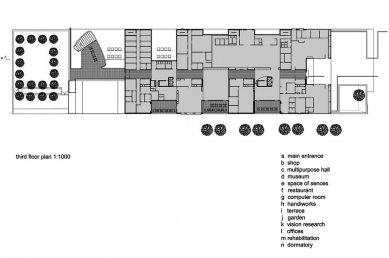 IIRIS – kancelářská budova a centrum služeb pro zrakově postižené - Půdorys 3.np - foto: Lahdelma & Mahlamäki Architects