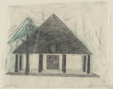 Lesní kaple - Kresba - foto: © MoMA, NY