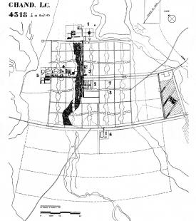 Kapitol v Čandígarhu - Čandígarh - původní plán města z r. 1951