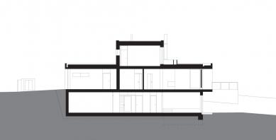 Rodinný dům Vinohrady 01 - Řez - foto: knesl + kynčl architekti