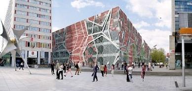 Centrum-Galerie Dresden - Soutěžní návrh - de Architecten Cie