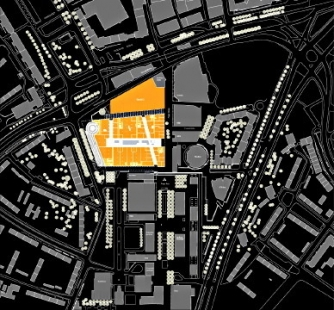Centrum-Galerie Dresden - Situace