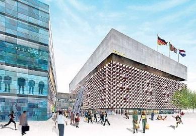 Centrum-Galerie Dresden - Soutěžní návrh - OMA