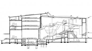 Městské divadlo ve Wolfsburgu - Řez sálem