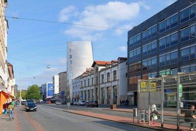 Věž Gehry - foto: Petr Šmídek, 2009