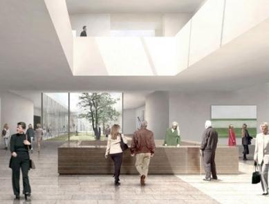Rozšíření Folkwang-Museum - Vizualizace foyer přepracovaného návrhu. - foto: Studio Toni Yli-Suvanto