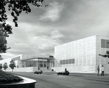 Rozšíření Folkwang-Museum - Vítězný návrh z roku 2007. - foto: David Chipperfield Architects