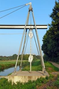 Transbordér přes řeku Niers u Mönchengladbachu - foto: Petr Šmídek, 2009