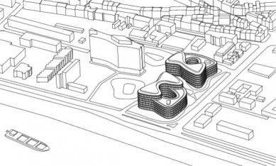 Cologne Oval Offices - Axonometrie - foto: sauerbruch hutton architekten