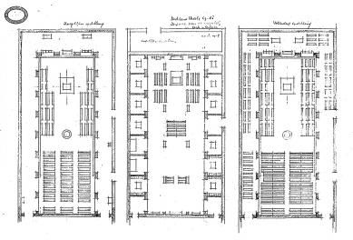 Rozšíření kláštera svatého Benedikta - Půdorysy