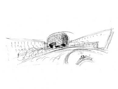 Bytový a kancelářský dům La Fortezza - Skica