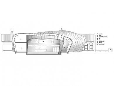 Mezz – hudební scéna - Řez - foto: Erick van Egeraat associated architects