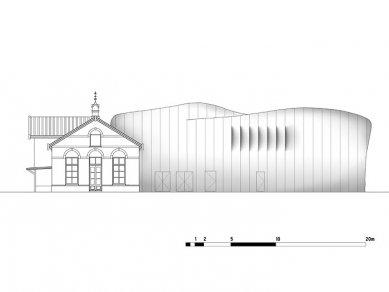 Mezz – hudební scéna - Severní pohled - foto: Erick van Egeraat associated architects