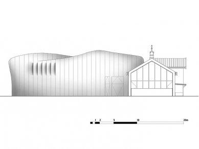 Mezz – hudební scéna - Jižní pohled - foto: Erick van Egeraat associated architects