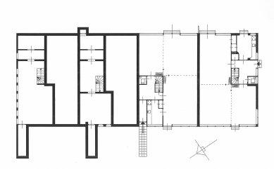Řadové domy Erasmuslaan - Půdorysy spodních podlaží