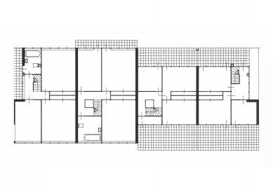Řadové domy Erasmuslaan - Půdorysy horních podlaží