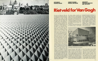 Van Gogh Museum - The Architectural Review, issue 822, page 377, year 1973