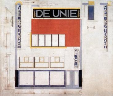 Café De Unie - Výkres fasády