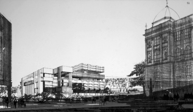 Budova Národního shromáždění - Soutěžní návrh manželů Machoninových.