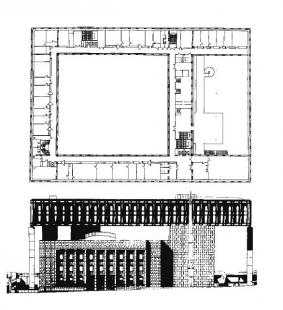 Budova Národního shromáždění - Půdorys nástavby a pohled