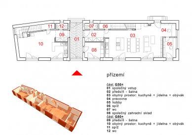 Dvougenerační rodinný dům Karlovy Vary - Půdorys přízemí - foto: © my architekti