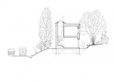 Dvougenerační rodinný dům Karlovy Vary - Řez příčný - foto: © my architekti