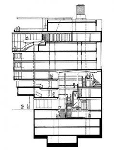 Haas-Haus - Řez - foto: © Hans Hollein, 1990