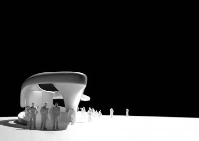 Pozemní lanová dráha Nordpark - Congress Station (1. stanice), model - foto: Zaha Hadid Architects