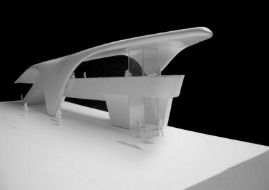 Pozemní lanová dráha Nordpark - Loewenhaus Station (2. stanice), model - foto: Zaha Hadid Architects