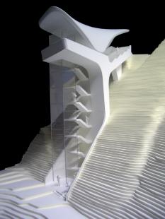 Pozemní lanová dráha Nordpark - Alpenzoo Station (3. stanice), model - foto: Zaha Hadid Architects