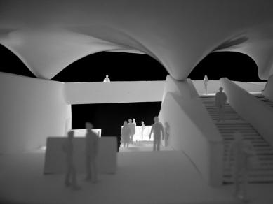 Pozemní lanová dráha Nordpark - Hungerburg Station (4. stanice), model - foto: Zaha Hadid Architects