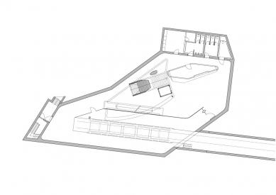 Pozemní lanová dráha Nordpark - Congress Station (1. stanice), půdorys - úroveň nástupiště
