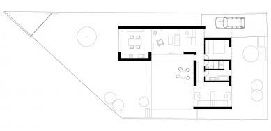 Rodinný dům v Praze-Kunraticích - Půdorys
